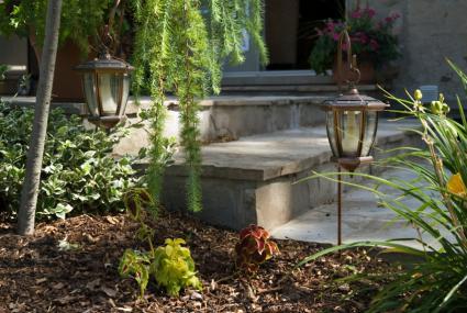 lantern style path light