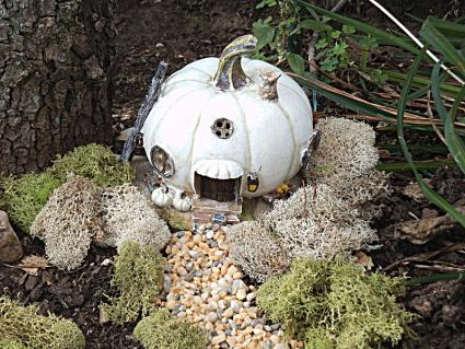 White pumpkin house