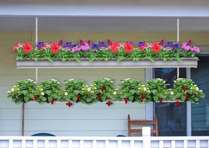 Hanging Rain Gutter Garden