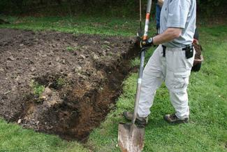 double digging garden bed