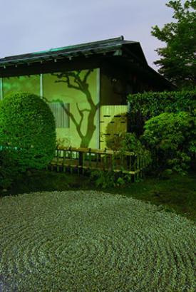 Zen style moon garden