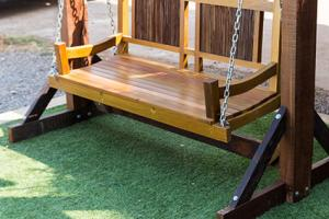 Artificial grass used under furniture