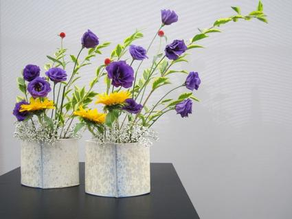 Pair of floral bouquets