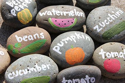 stone garden marker