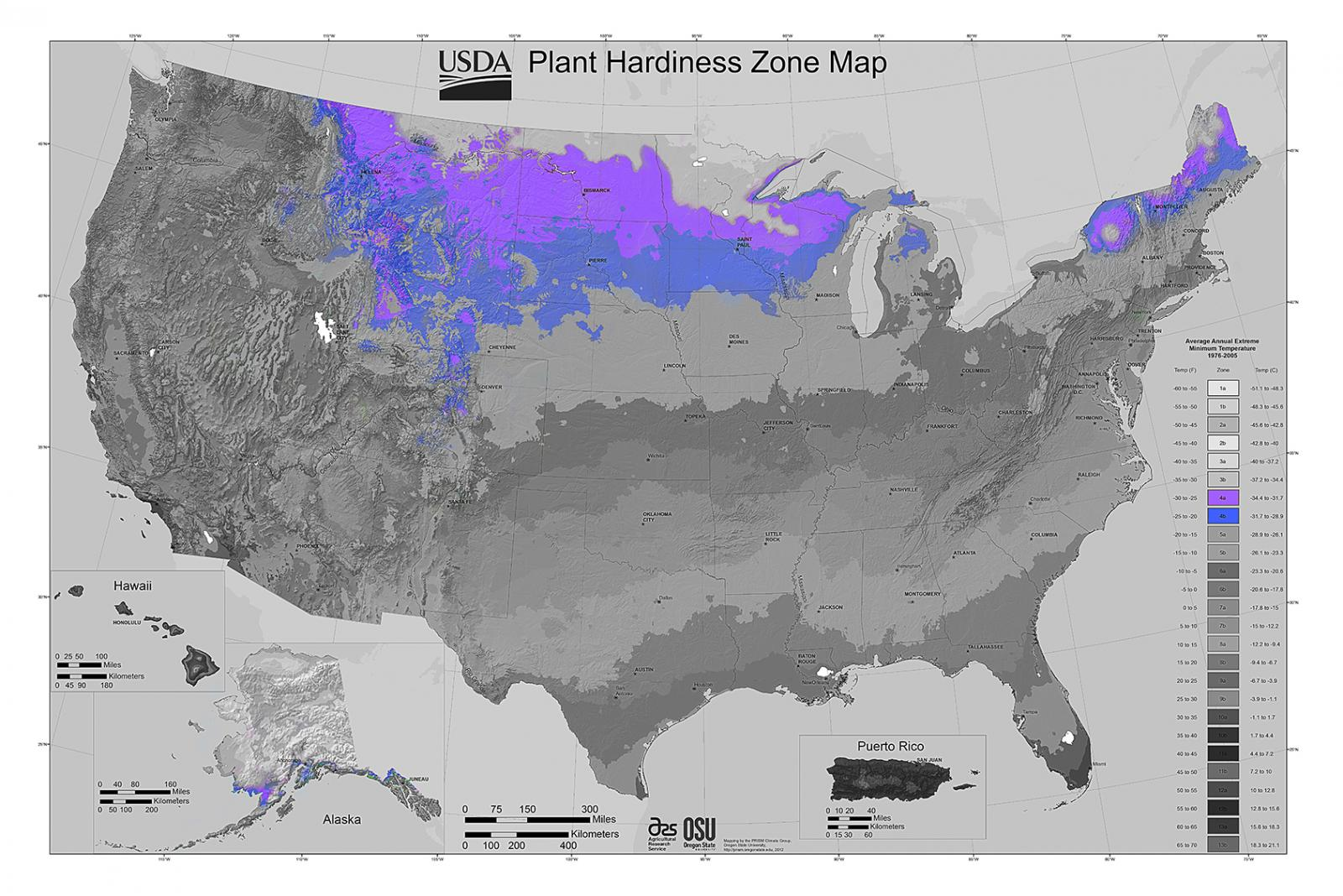 Plant Hardiness Zone Map 4