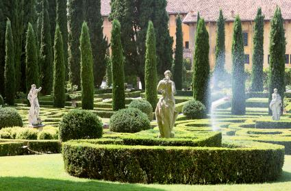 Statutes and cypress trees
