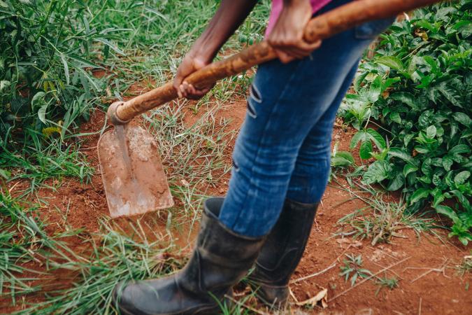 Man working the soil