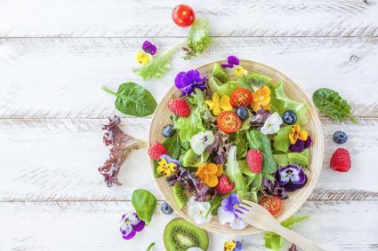pansies and violets edible flowers