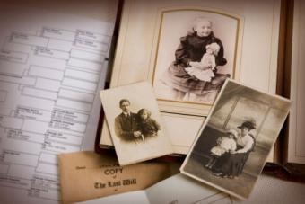 Vintage family photo album