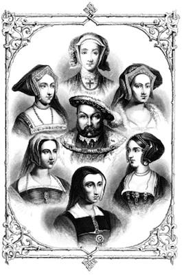Henry VIII and his six wives.