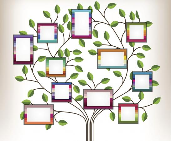 Family tree template for kids lovetoknow for Genealogy templates for family trees