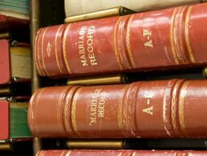 Volumes of marriage records