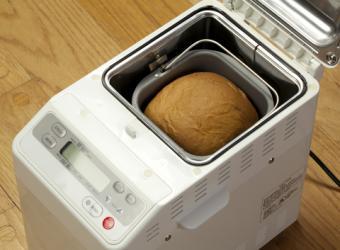 Machine-baked rice bread