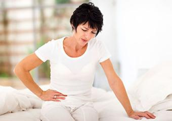 Woman with stomach upset