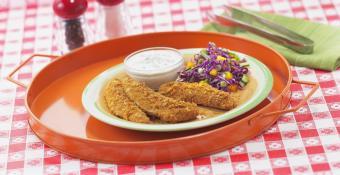 Gluten-free chicken tenders and dip