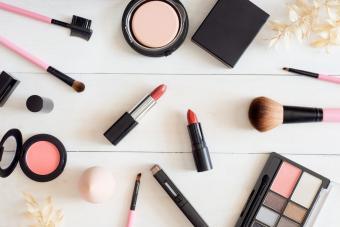cosmetics concept with lipstick