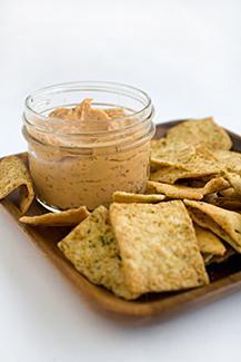 chickpea flour crackers