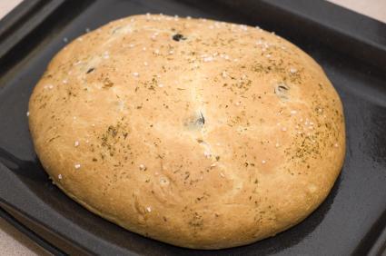 wheat free focaccia bread