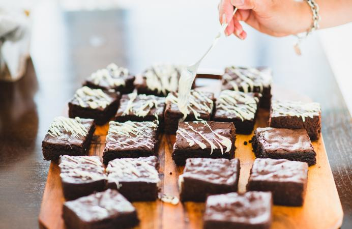Decorating Fudge Brownies