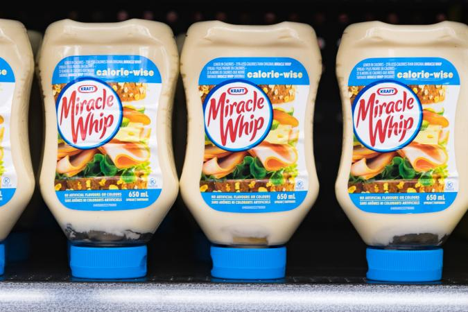 Kraft Miracle Whip bottles