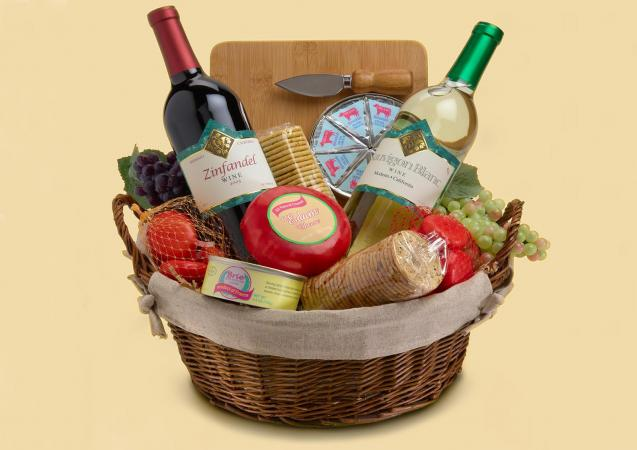 Gluten free gift baskets with wine gluten free gourmet wine gift basket negle Gallery