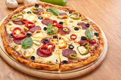 Meat and Vegetable Pizza