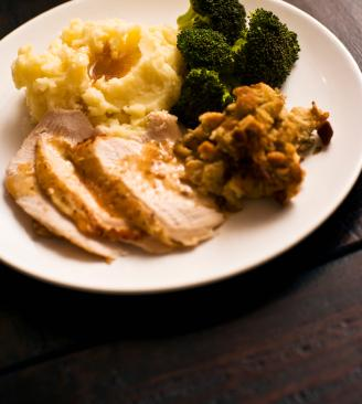 Gluten free stuffing with turkey