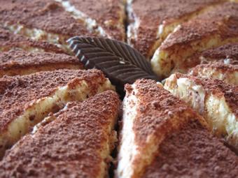 Sliced Tiramisu Cake