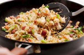 Making pork fried rice