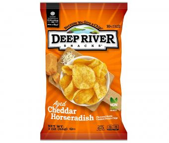 Deep River Snacks Aged Cheddar Horseradish Kettle Cooked Potato Chips