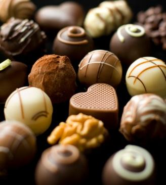 Gourmet chocolate candies