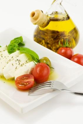 Tomato, basil and fresh mozzarella make a fabulous appetizer