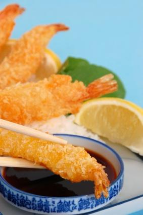 Shrimp crusted with panko are a light, airy treat