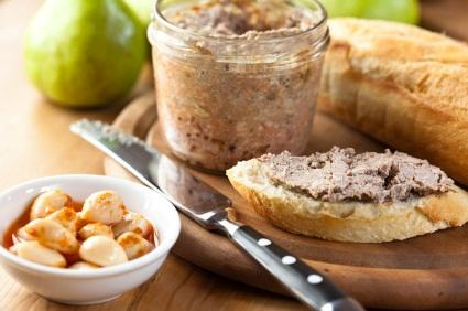 pate and bread