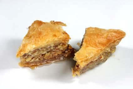 Phyllo pastry dessert