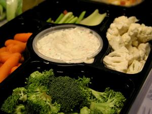 Smoked Salmon Dip with Raw Vegetables