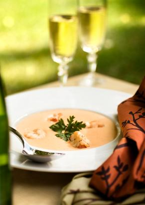 Lobster Bisque and Champagne