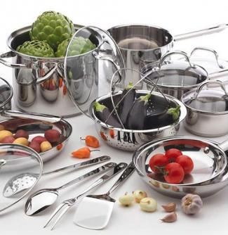 Wolfgang Puck 19 Piece Stainless Steel Cookware Set