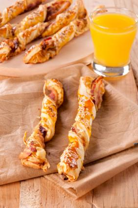 Bacon pastry twists; Bacon pastry twists; © Djama86 | Dreamstime.com