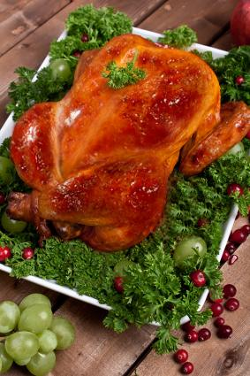 Turkey with cranberry glaze
