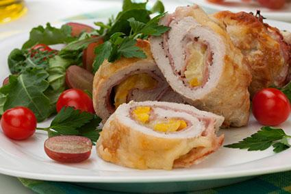 cooked chicken roulade