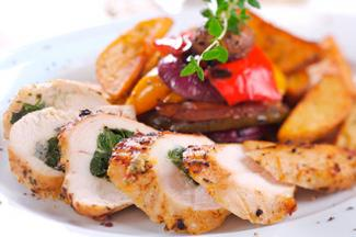 spinach chorizo chicken roulade