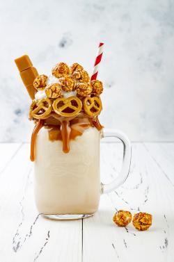 Salted caramel indulgent extreme milkshake