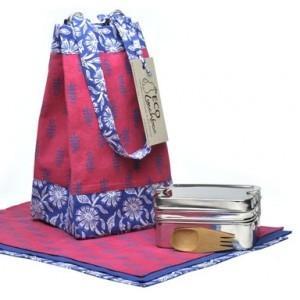 Reusable lunch bag kit