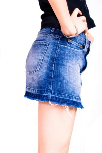 recycled jean skirt