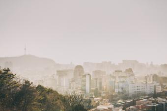 Dusty city