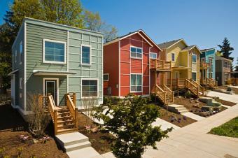 Newly built modern houses