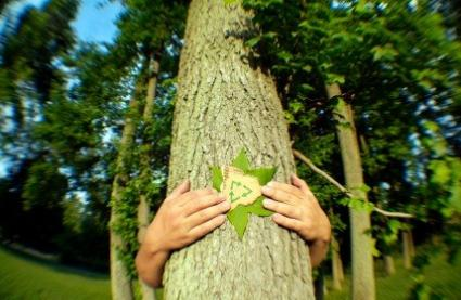 Hug a Tree on Earth Day