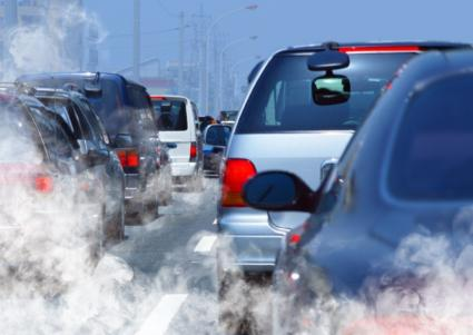 air pollution from car fumes