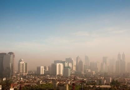 smog over a large city